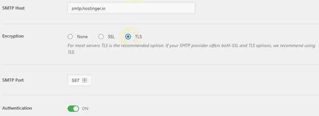 Best WordPress SMTP plugin - smtp host encryption port information in wp smtp wordpress plugin