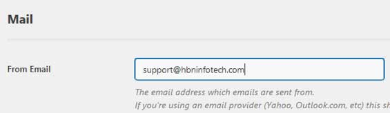 wp smtp email settings