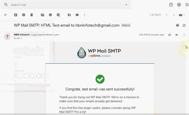 Best WordPress SMTP plugin - wp smtp email test confirmation email