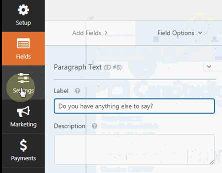 wpforms conversational forms settings