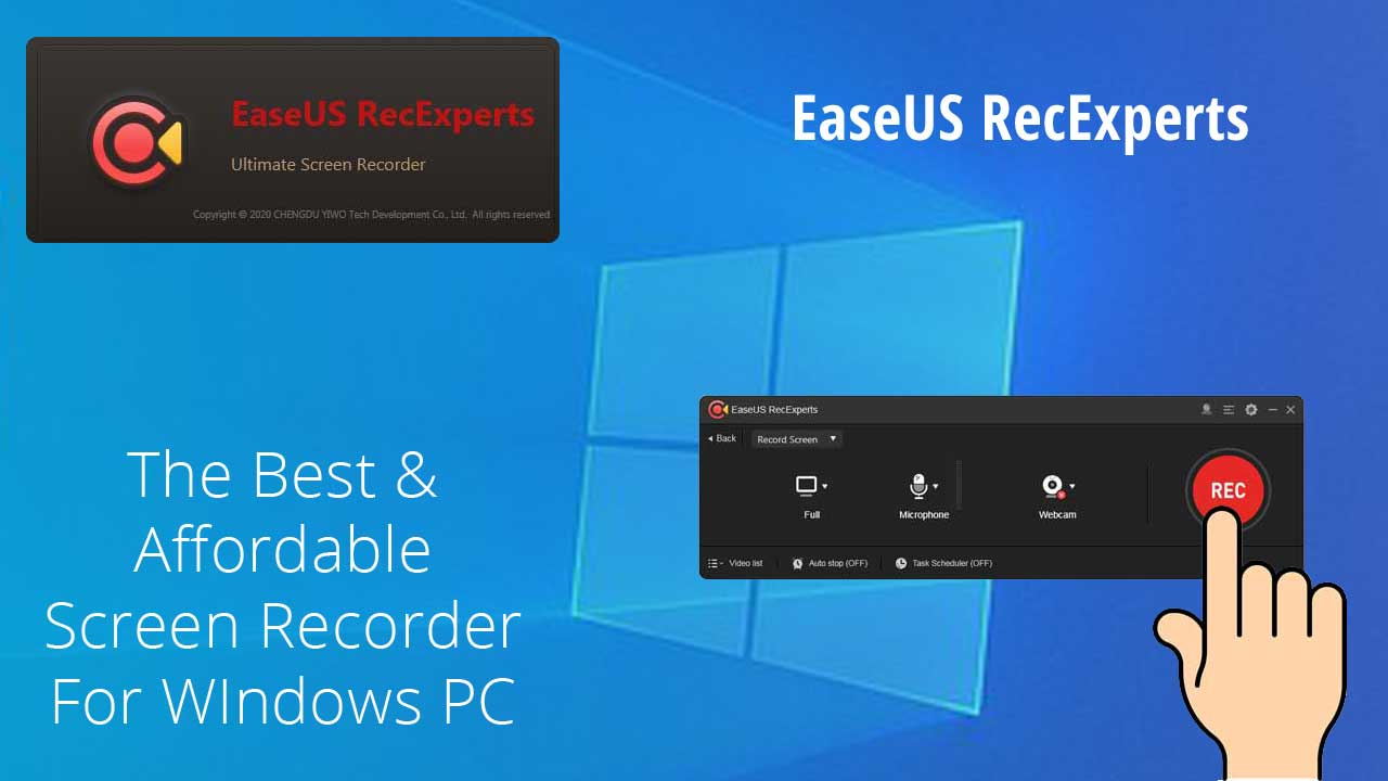 Best Paid Screen Recorder for PC - EaseUS RecExperts The Best Affordable Screen Recorder