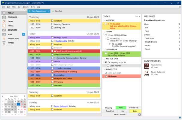 EssentialPIM - Personal Information Management Software
