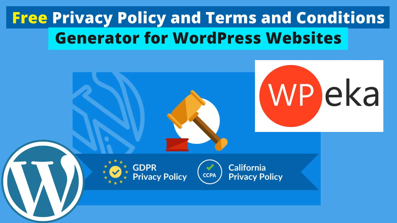 Free Privacy Policy and Terms and Conditions Generator for WordPress Websites