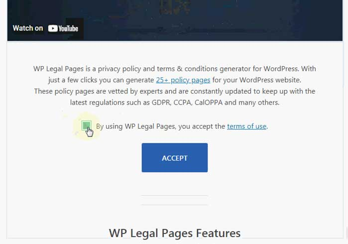 Free Terms and Conditions generator for WordPress