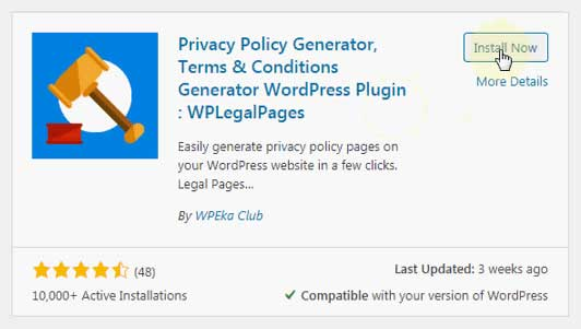 Free WordPress Privacy Policy Generator