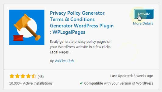 Free Privacy Policy Generator for WordPress