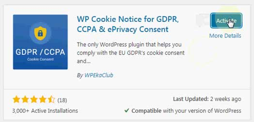 free wp cookie notice for wordpress websites